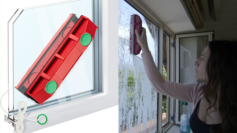Magnetic Window Glass Cleaning